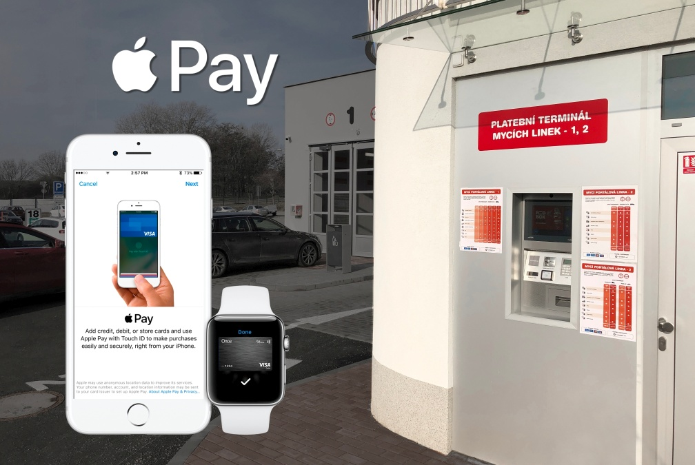 placení v myčce s Apple Pay
