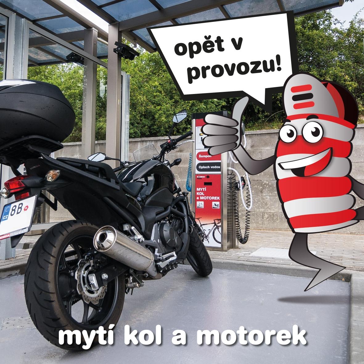 Automyčka na kola motorky Brno